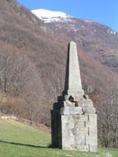 the Sibaud monument of Bobbio Pellice (Turin)